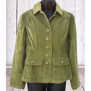 Talbots Petites   Lime Green Corduroy Blazer   6